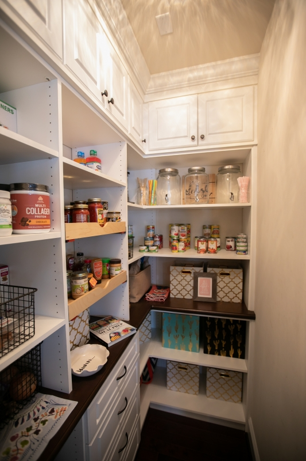 custom walk in kitchen pantry