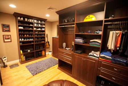 men's home storage closet