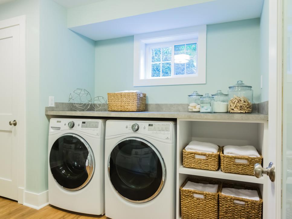 basement-laundry-and-linen-organization