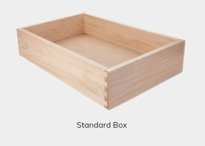 Standard Box Upgraded to Easy Close Undermount Slides