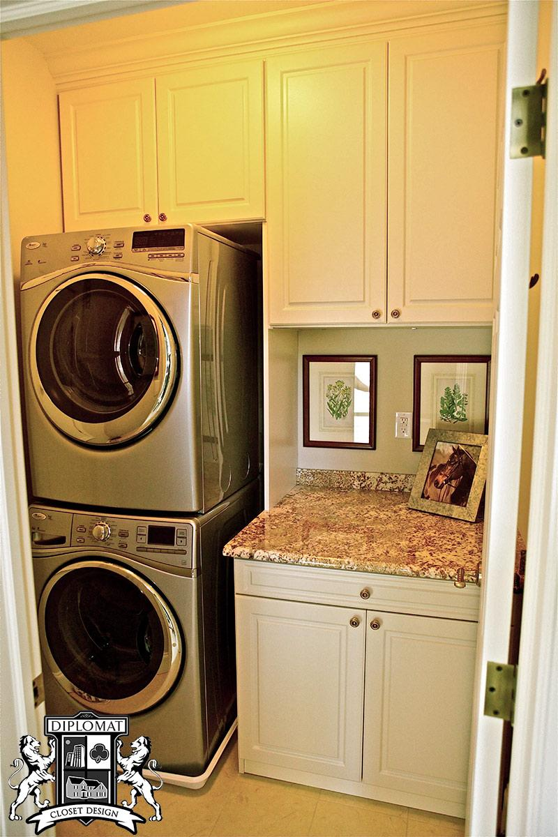 laundry room and kitchen | diplomat closet design Installing Cabinets in Laundry Room