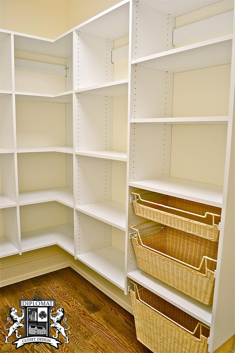 Mudroom Pantry Storage : Pantry and mudroom storage diplomat closet design